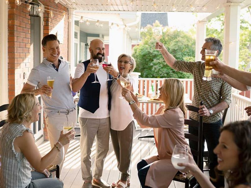 Westhaven community front porch party